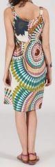 Robe femme d'été mi-longue imprimée ethnique Baba 271849