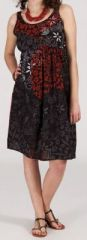 Robe femme d'�t� mi-longue imprim�e ethnique Zeyla 271850