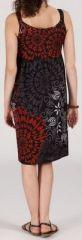 Robe femme d'été mi-longue imprimée ethnique Zeyla 271851
