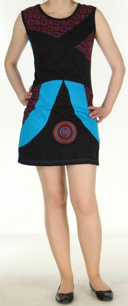 Robe femme d'été noire du Népal style ethnique Muriela 270422