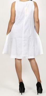 Robe femme d'été originale - forme trapèze - Blanche - Carlitta 272040
