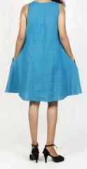 Robe femme d'été originale - forme trapèze - Bleue - Carlitta 272042