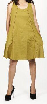 Robe femme d'été originale - forme trapèze - Verte - Carlitta 272043