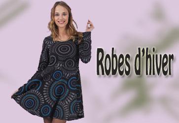 Robe colorée ethnique chic, Robe originale casual femme pas chère ...