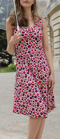 Robe femme mi-longue pour un été en couleur Lucine 6 271791