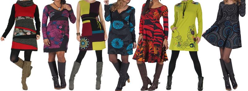 robe d 39 hiver originales pour les femmes aux imprim es color es et ethniques. Black Bedroom Furniture Sets. Home Design Ideas