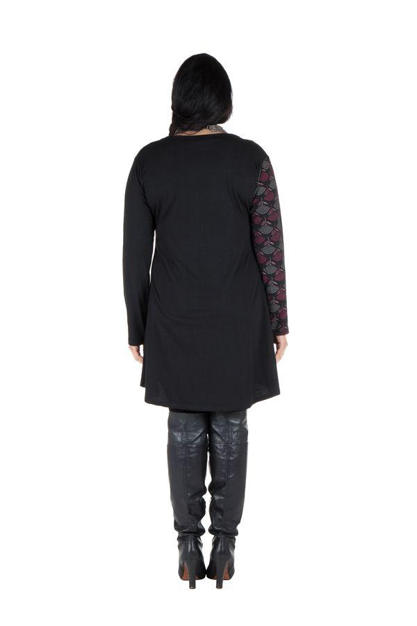 Robe femme ronde à col carré et imprimé originaux ethniques Lolita 302150