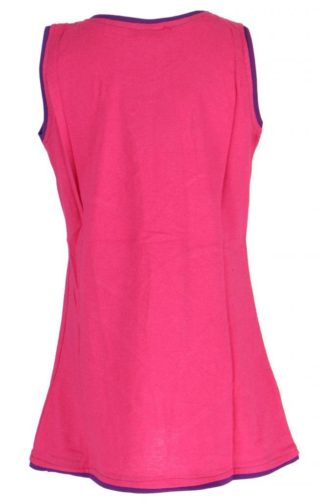 Robe fille rose motif fleur Carla 268659