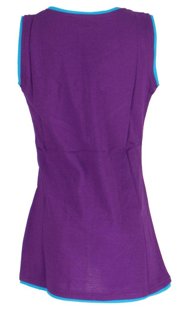 Robe fille violette motif fleur Carla 268663