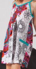 Robe Fillette d'�t� Ethnique et Gaie Malaba col Turquoise 277427