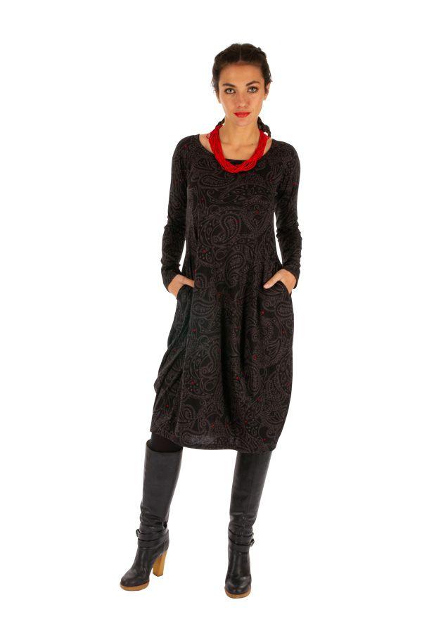 Robe forme boule à poches ethnique et originale Mimongo 312713