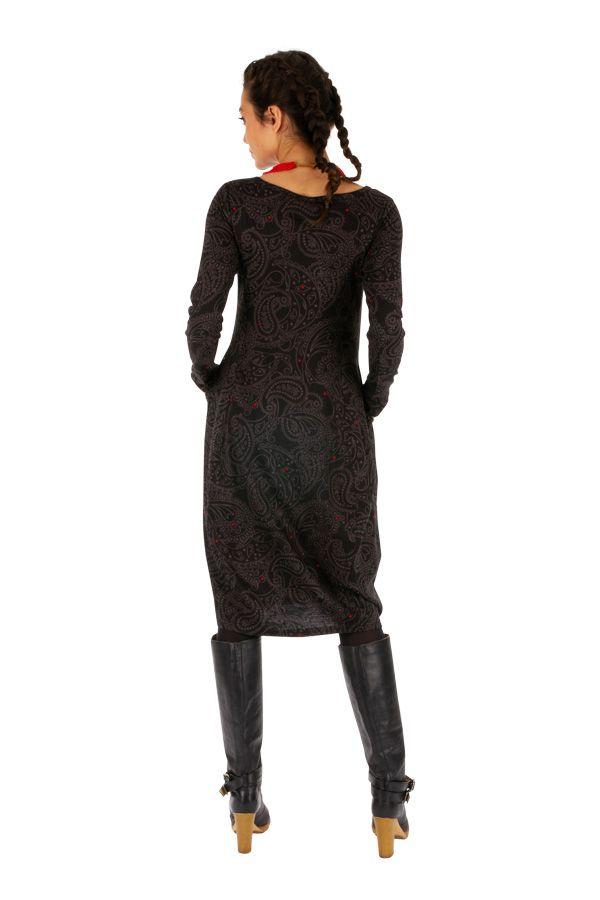 Robe forme boule à poches ethnique et originale Mimongo 312714
