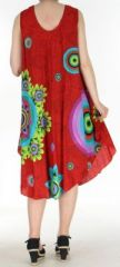 Robe grande taille originale et ethnique  Rouge  Asmita 272385