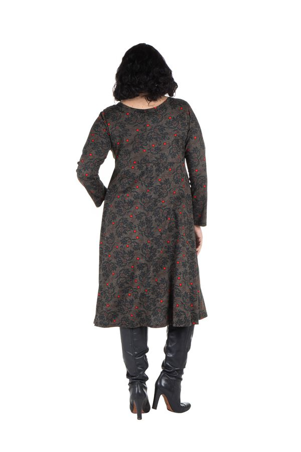 Robe hiver pour femme réveillon imprimée Christmas 300603