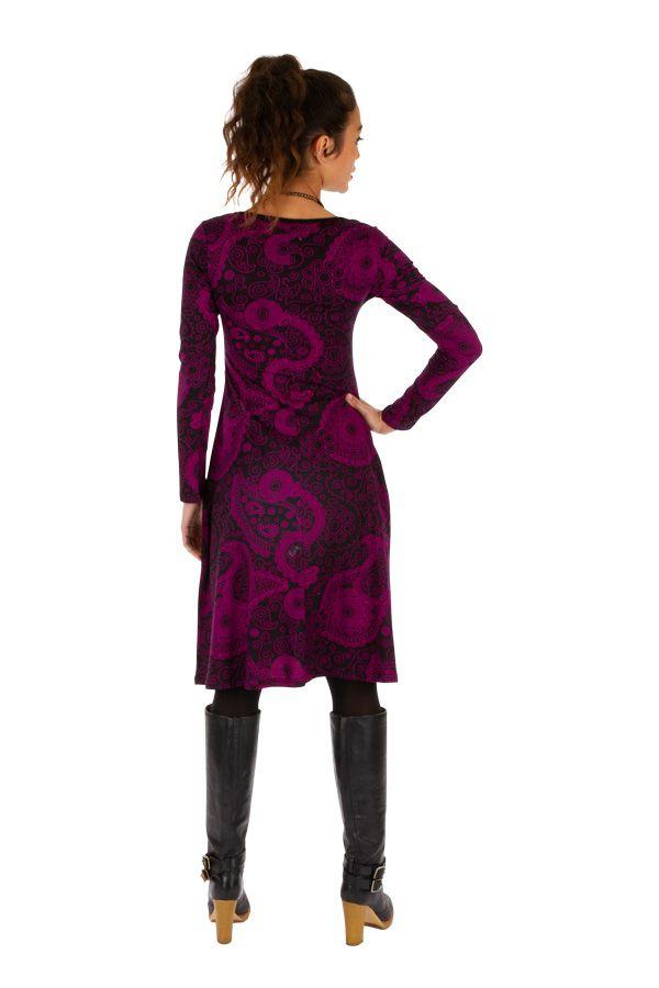 Robe idéale pour l'hiver originale et colorée Noémie 312657