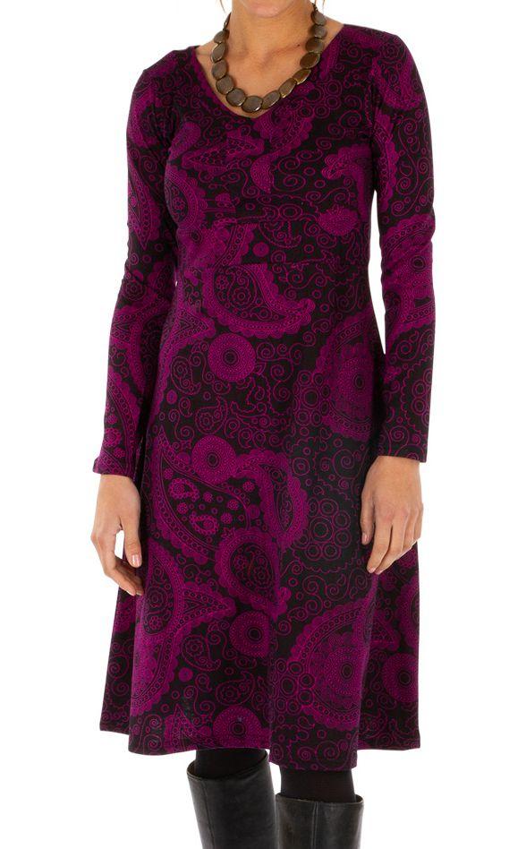 Robe idéale pour l'hiver originale et colorée Noémie 312658