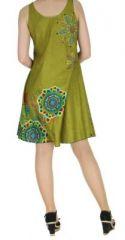 Robe imprimée de couleur kaki Shyna