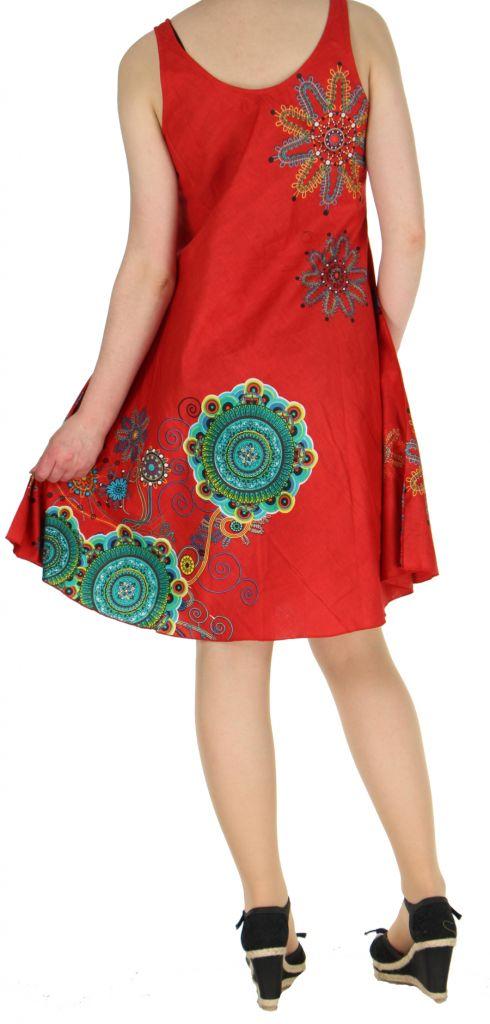 Robe imprimée de couleur rouge Shyna