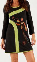 Robe Imprimée et Originale d'hiver courte Zante Noire 279703
