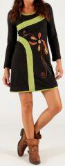 Robe Imprimée et Originale d'hiver courte Zante Noire 279704