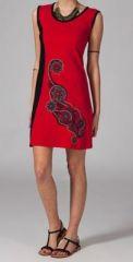 Robe imprim�e rouge Rayana 269223