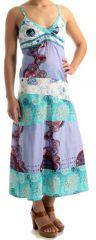 Robe longue à fines bretelles Originale et Colorée Bastila 279651