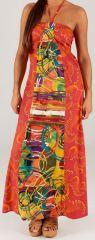 Robe longue à tour de cou Ethnique et Colorée Célia Cercles 279369