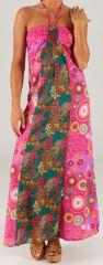 Robe longue à tour de cou Ethnique et Colorée Célia Rose 279360