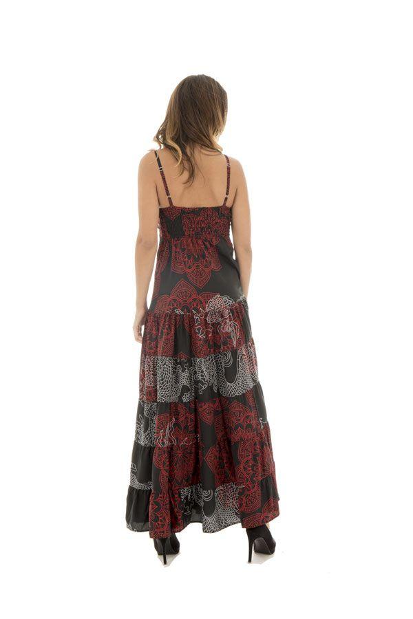robe longue avec de fines bretelles et ravissant col en v tricolore Bailey 289343