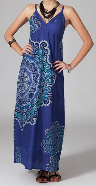 Robe longue bohème Alessandra 270063