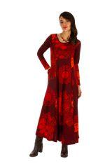 Robe longue d'hiver pour femme aux jolis motifs Albury 312677