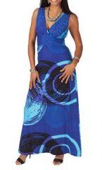 Robe longue d�collet� plongeant Cynthia 267496