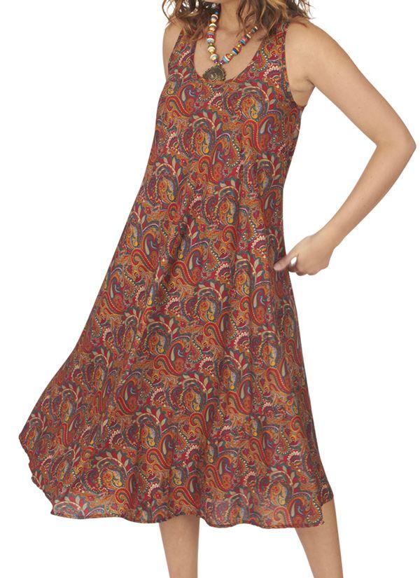 Robe longue été ethnique et bohème fluide femme Kirakiré