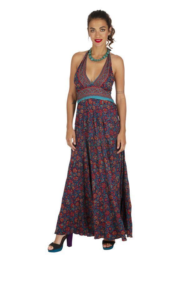 Robe longue été pour femme originale et fleurie Cosmia 316777