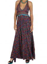 Robe longue été pour femme originale et fleurie Cosmia 316779