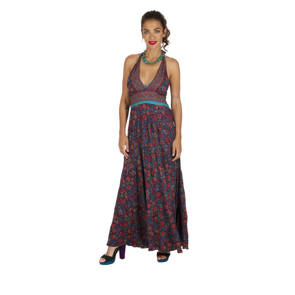 Robe longue été pour femme originale et fleurie Cosmia 316780