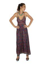 Robe longue ethnique chic imprimé fleuri Marinette 316657