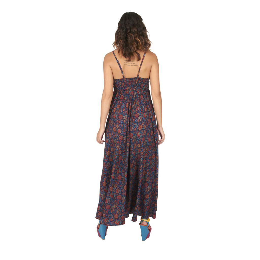 Robe longue ethnique chic imprimé fleuri Marinette 316661
