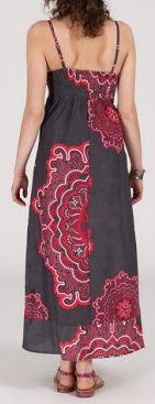 Robe longue ethnique et originale - grise - Blandina 271885