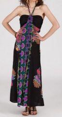 Robe longue ethnique et originale - noire - Damiana 271888