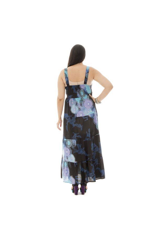 robe longue grande taille avec doublure 100% voile de coton Gisèle 290176