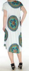 Robe longue grande taille ethnique  Blanche  Manna 272395