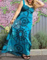 Robe longue grande taille originale bleue Joy 267660