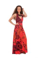 Robe longue idéale soirée Chic et Ethnique Boop Rouge 282042