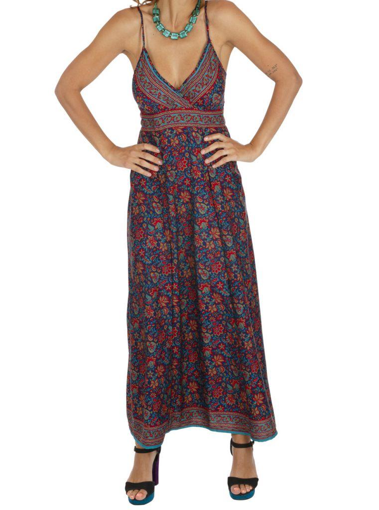 Robe longue imprimé à fleurs ethnique chic Chantalie 316629
