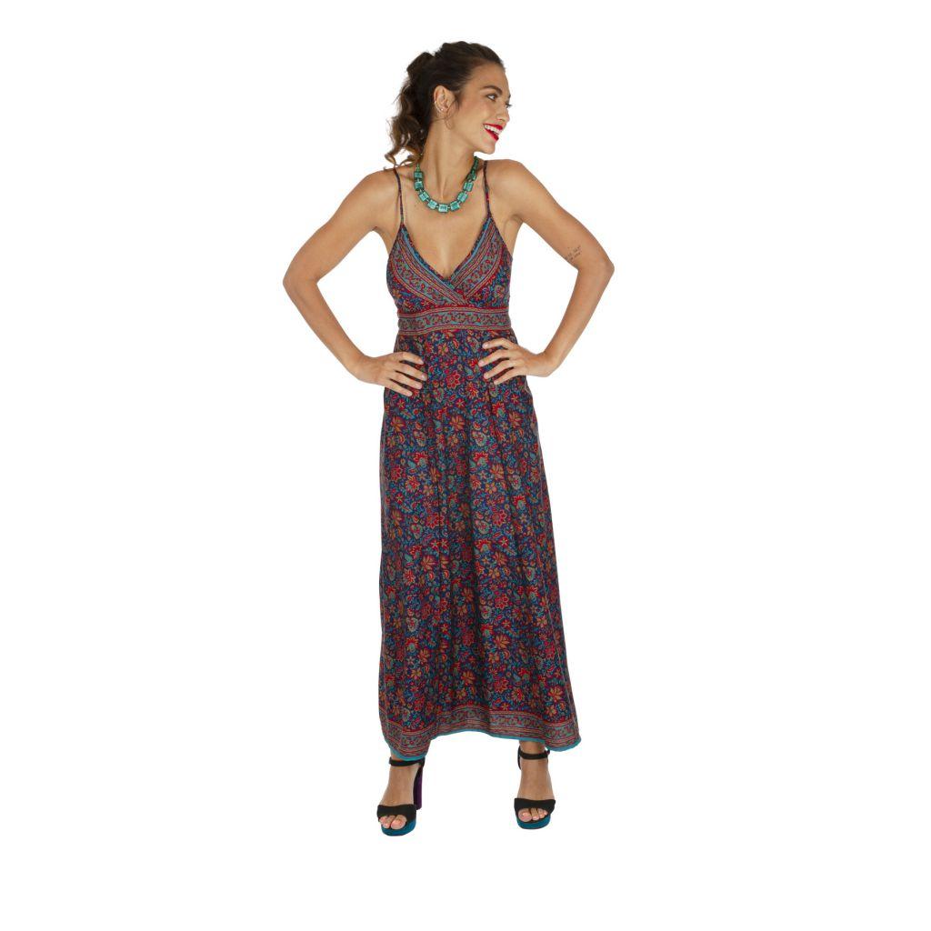 Robe longue imprimé à fleurs ethnique chic Chantalie 316630