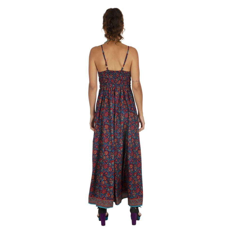Robe longue imprimé à fleurs ethnique chic Chantalie 316631