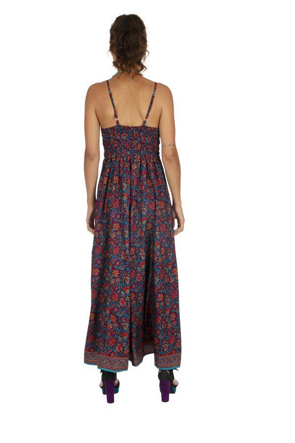 Robe longue imprimé à fleurs ethnique chic Chantalie 316633