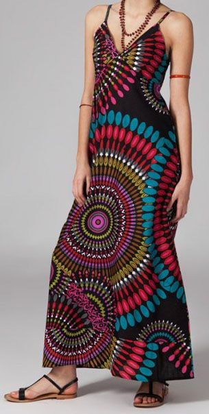 Robe longue look boho Mathilde 270075