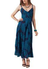 Robe longue originale bleue Olivia 267812